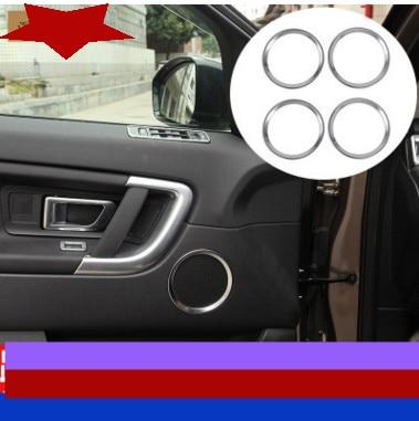 Garniture de couverture sonore de haut-parleur de porte 6 pièces pour Land Rover Discovery Sport 2015 2016 accessoires d'intérieur de voiture style de voiture