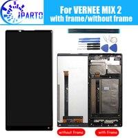 Vernee mix 2 display lcd + digitador da tela de toque montagem do quadro 100% original novo lcd digitador toque para vernee mix 2 ferramentas