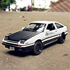 Image 5 - 1:28 oyuncak araba başlangıç D AE86 Metal oyuncak alaşım araba Diecasts ve oyuncak araçlar araba modeli minyatür ölçekli Model oyuncak arabalar çocuklar için