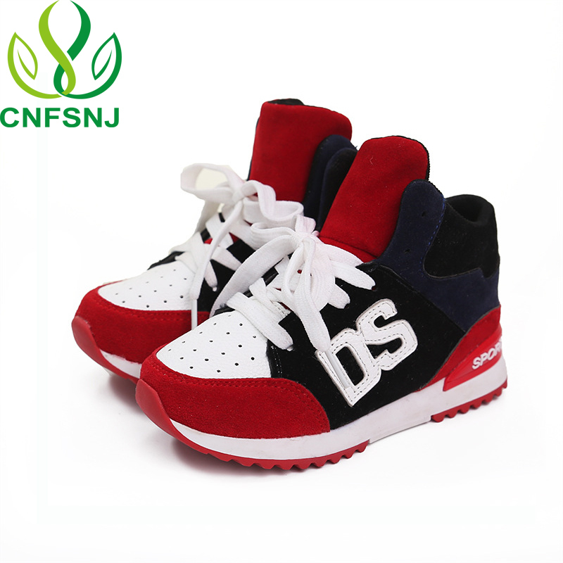 CNFSNJ Brand 2019 New Spring Autumn Sports Shoes Children For Boys Girls Lace-up Anti-slippery Fashion Flat With Sneakers 26-36