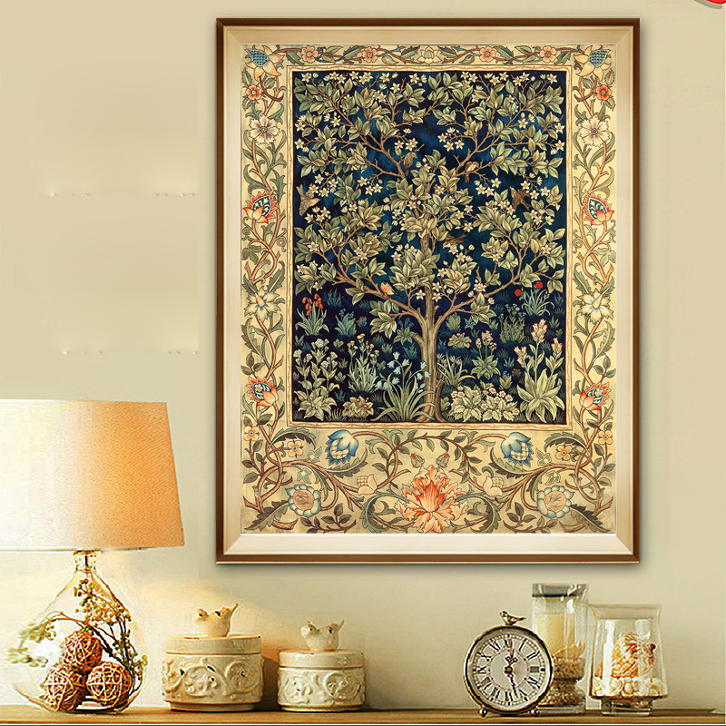 Diamond Painting Full Drill Floor Vertical Version Of The Rich Tree 5D Devil Round Diamond Life DIY Diamond Embroidery-in Diamond Painting Cross Stitch from Home & Garden    1