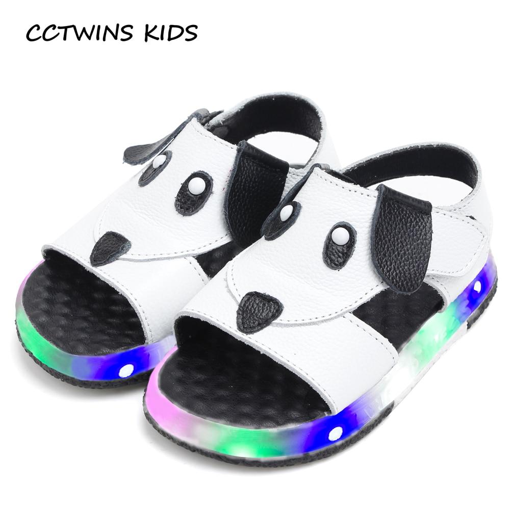 CCTWINS KIDS 2017 Summer LED light Toddler Boy Baby Girl Children Fashion Beach Brand Sandal Kid