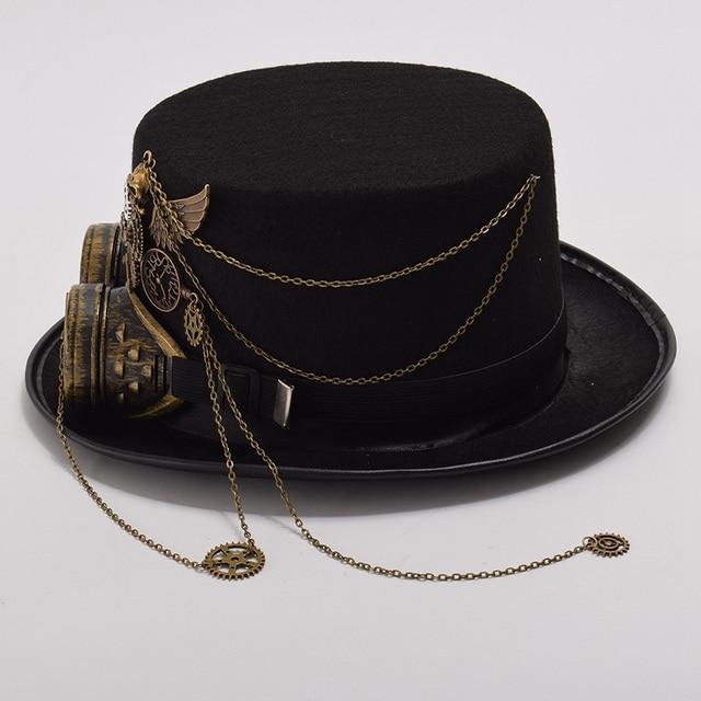 Шляпа в стиле стимпанк с очками в ассортименте вариант 4 3