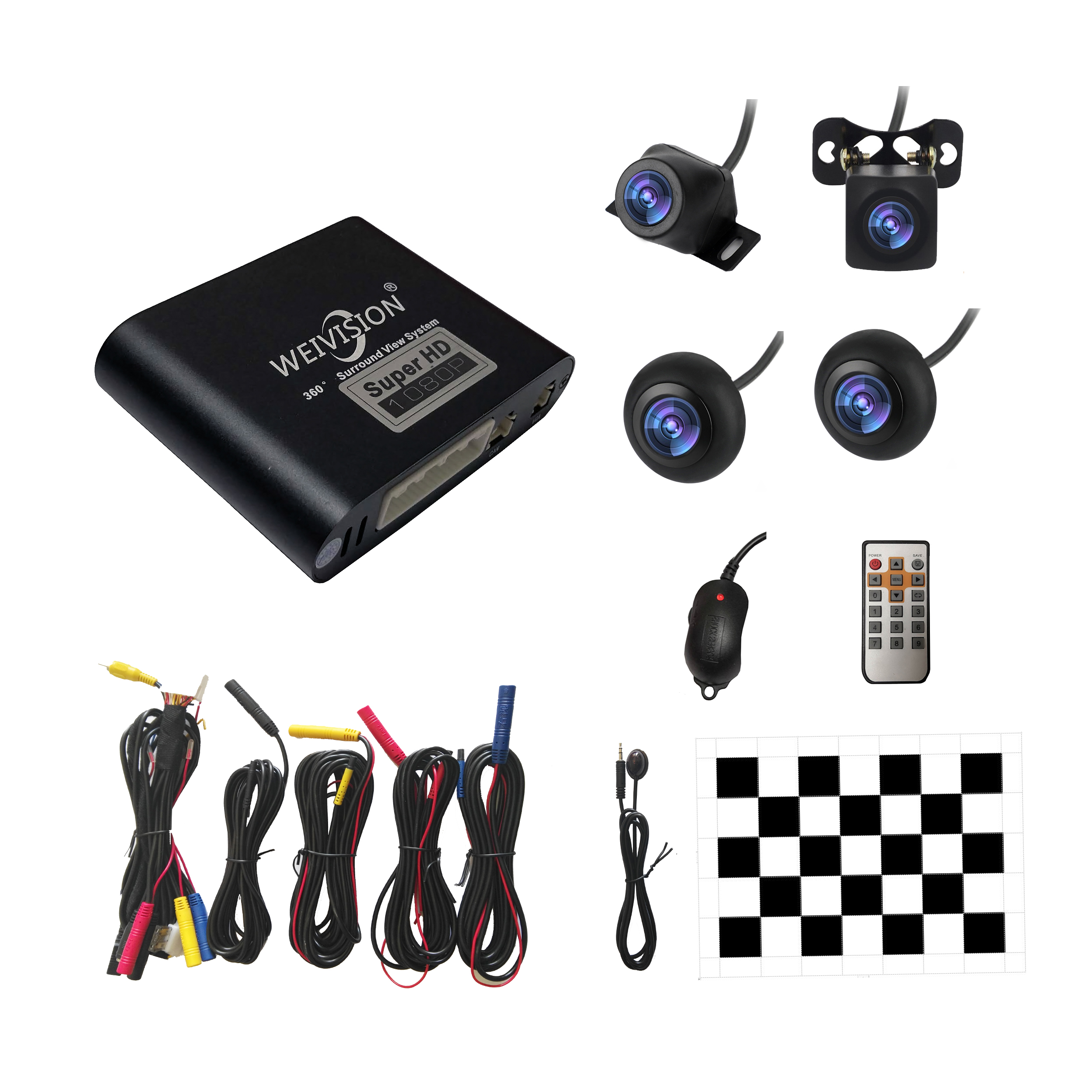 1080 P HD 360 Bridview Surround Sistema de Monitor Do Carro Vista Panorâmica, todos em torno de Vista sistema de Câmera com DVR gravação USB para todos os carros