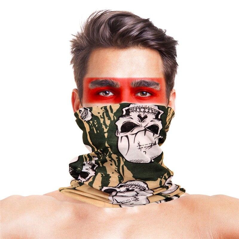 Военные страйкбол маски для вечеринки Полиэстеровые повязки на голову шарф Вечерние Маски унисекс головной убор Хэллоуин пугающая маска - Цвет: 050