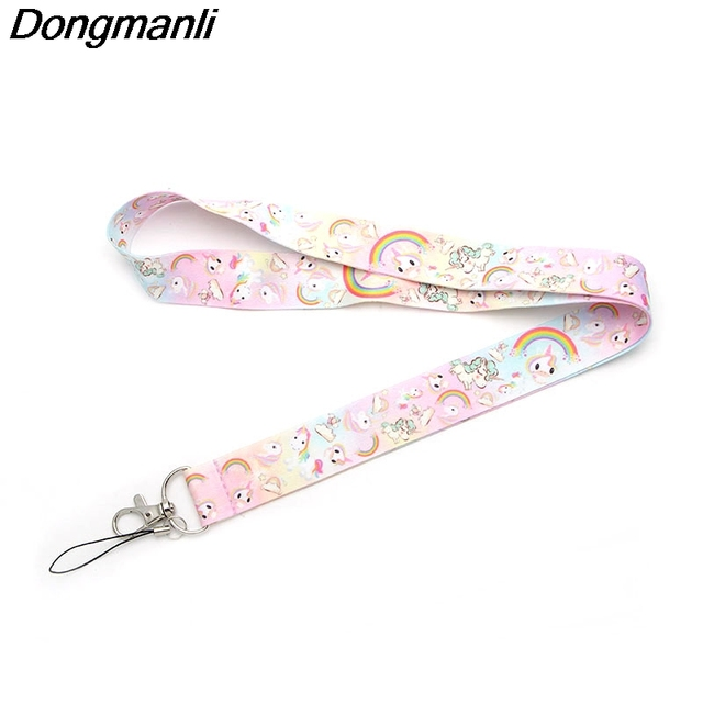 P1925 Dongmanli horse keychain Tags Strap Neck Lanyards for keys ID Card Pass Gy