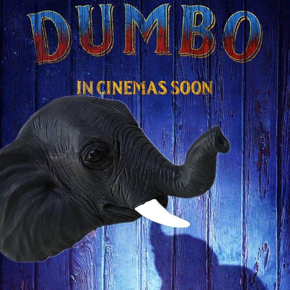 2019 New movie Dumbo  Head Mask Halloween Fancy Dress Cosplay Props Latex Masks The elephant mask