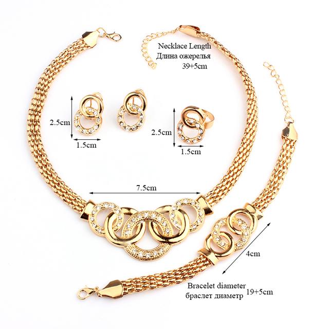 VIVILADY Classic Rhinestone Jewelry Sets