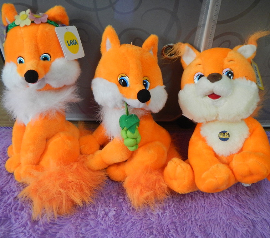 Russian language singing song plush fox soft doll ...