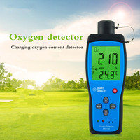 AR8100 Oxygen Gas Analyzer Indoor Air Quality Monitor O2 Detector Tester Meter Temperature Thermometer 0 30%