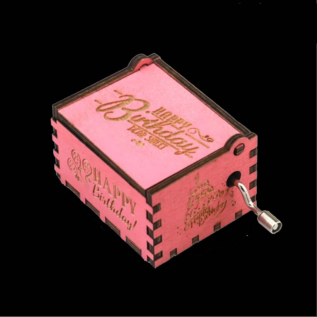 Wood Music Box Game of Thrones Harri Potter Wooden Music Box Pink Antique Carved Wooden Hand Crank Music Boxs Birthday Gift in Music Boxes from Home Garden