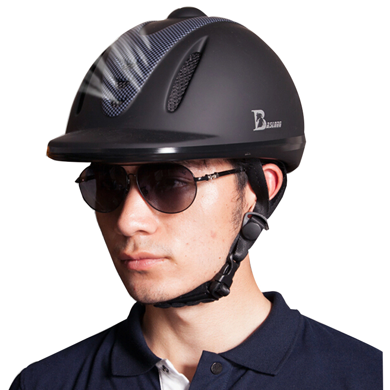 馬術乗馬ヘルメット通気性、耐久性安全ハーフカバー馬ライダーヘルメット男性女性子 52 61 センチメートル  グループ上の スポーツ & エンターテイメント からの ヘルメット の中 1