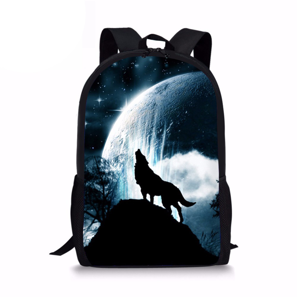 Children Backpack 3D Wolf Printed Backpacks Boys Girls School Bags Famous Brand Kids Schoolbags Daily Bagpack Mochila