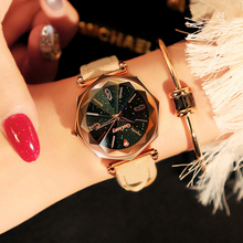 New Luxury Fashion Leather Watches Women Top Brand Rose Gold Crystal Dress Wristwatch Classic Quartz Watch for Woman Reloj Mujer