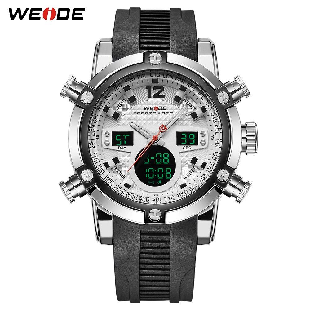WEIDE для мужчин спортивные дизайн дата Будильник бизнес секундомер Аналоговый Цифровой Мужской Военная Униформа наручные часы Relogio