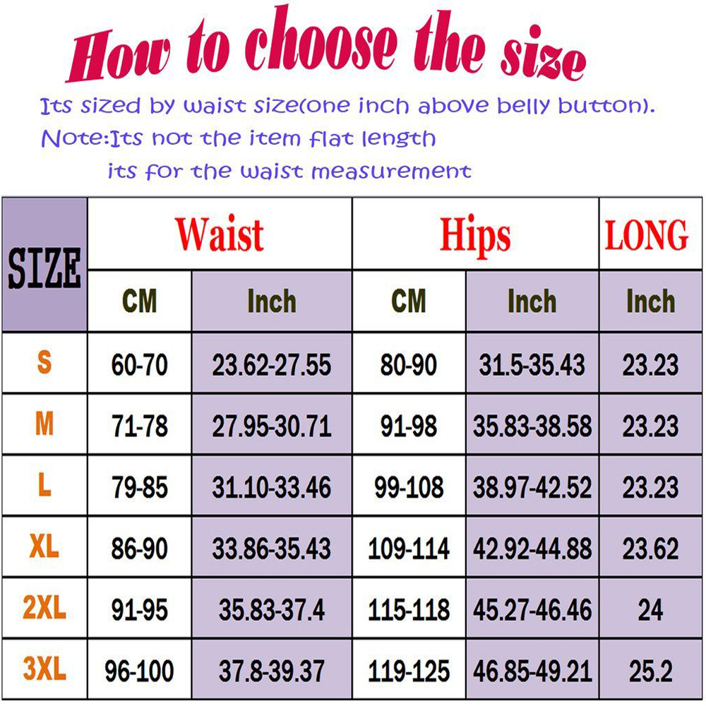 FLORATA Body Shaper Panty Weight Loss Womens Slimming Pants Hot Thermo Neoprene Sauna Sweat Belt Hip Enhancer Control Panties