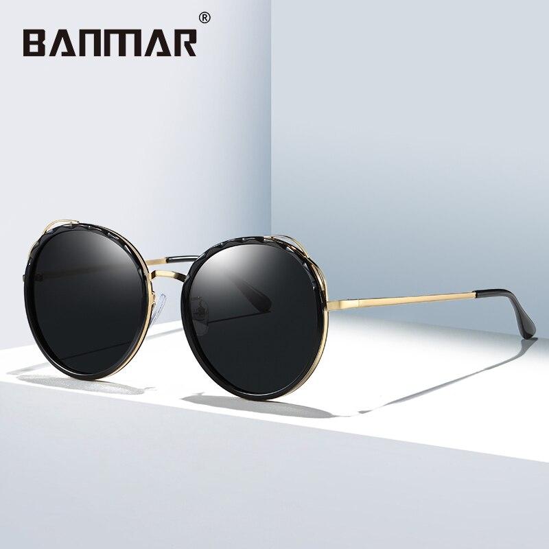 9146122ad9a BANMAR Fashion Female Polarized Sunglasses Women Cat Eye Glasses Ladies Sun  Glasses Round Mirror Shades oculos