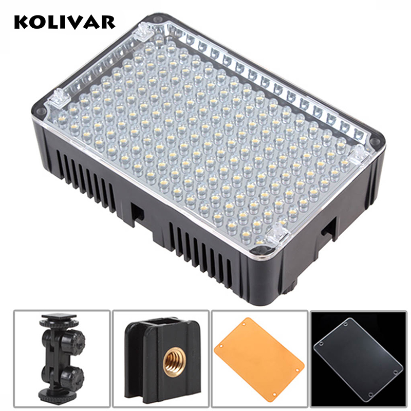KOLIVAR Aputure Amaran H160 LED Video Light CRI95+ 160 Lamp On-Camera Light for DV Camcorder DSLR Camera Photography Daylight hot sale dof hvr d160 5600k 160 leds bandoor filters ball mount led on camera video light for dv camcorder and dslr camera