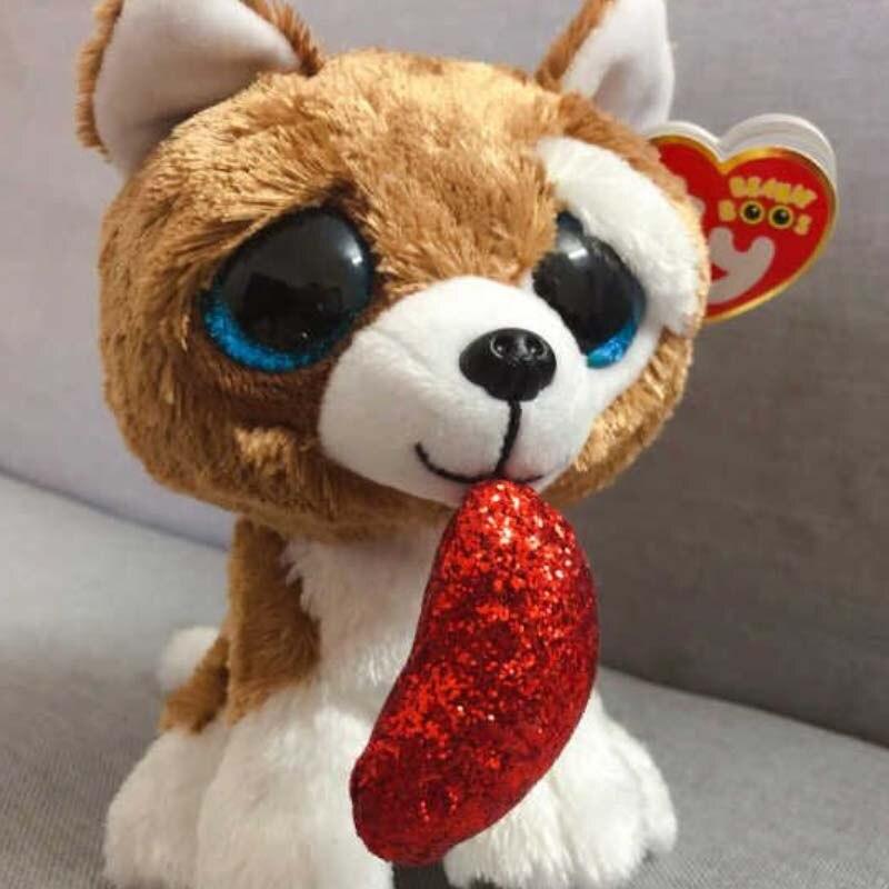 Ty Beanie Boos 15cm Heart Dog Olw Dange Alpaca Fox Dragon Plush Toys