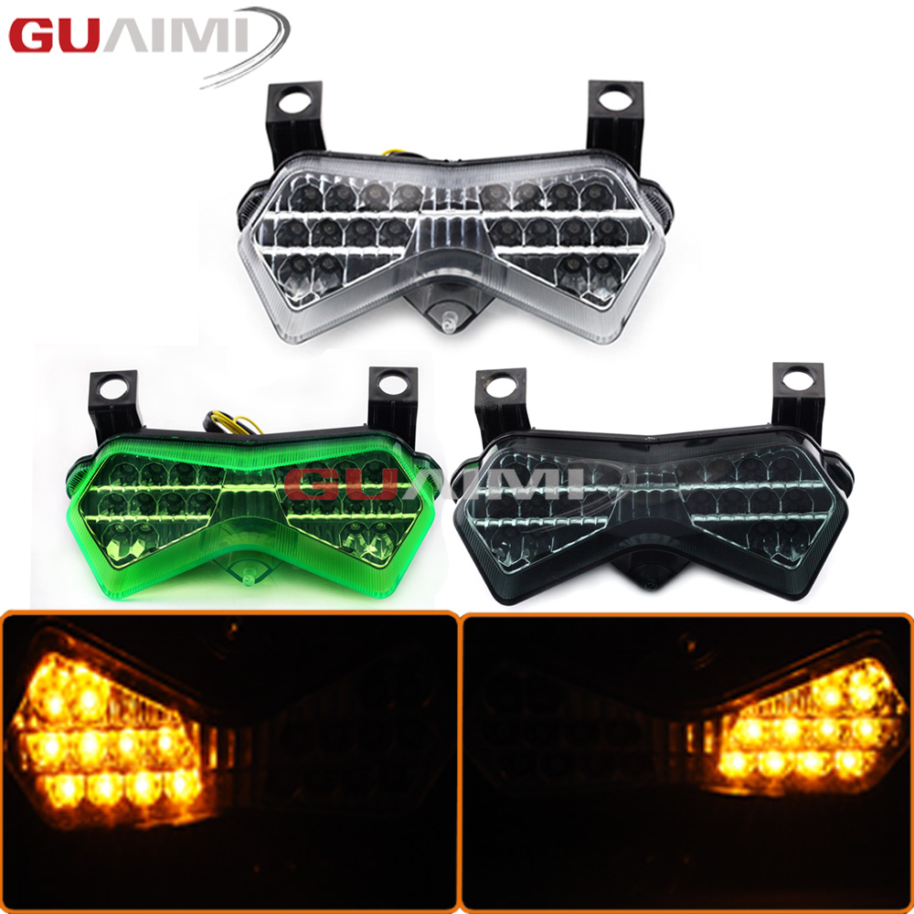 For Kawasaki ZX-6R ZX6R 2003 2004 Z750 2003-2006 Z1000 2003-2005 Motorcycle LED rear taillights brake tail turn signal light laser logo z1000 green titanium motorcycle cnc folding adjustable brake clutch levers for kawasaki z1000 2003 2004 2005 2006