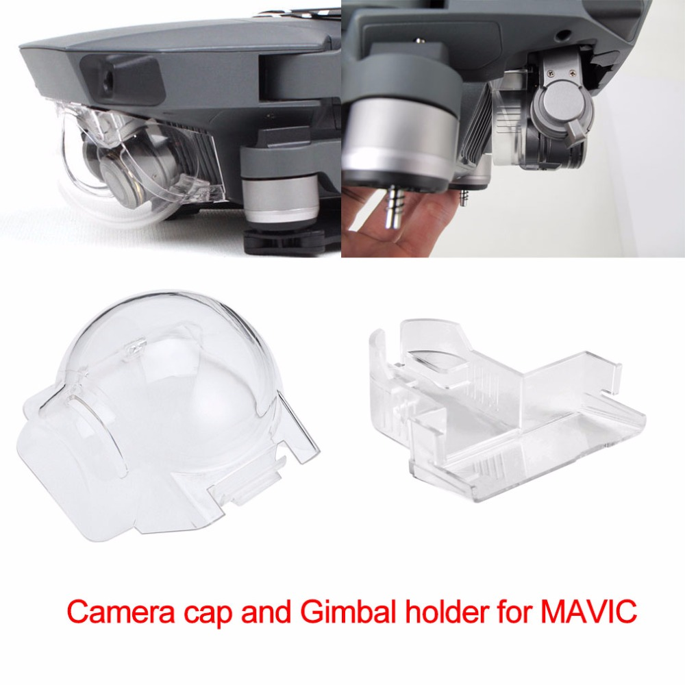 Camera Lens Cap and Gimbal Holder Mount Guard for DJI Mavic Pro Platinum Drone Camera Stabilizer Protector Dust-proof Cover Cap pgytech remote control thumb stick guard rocker protector holder for dji mavic pro mavic pro platinum dji drone