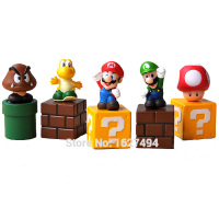 Super Mario Bros Dinosaur PVC Action Figures Goomba Luigi Koopa Troopa Mushroom Anime Figurines Dolls Kids