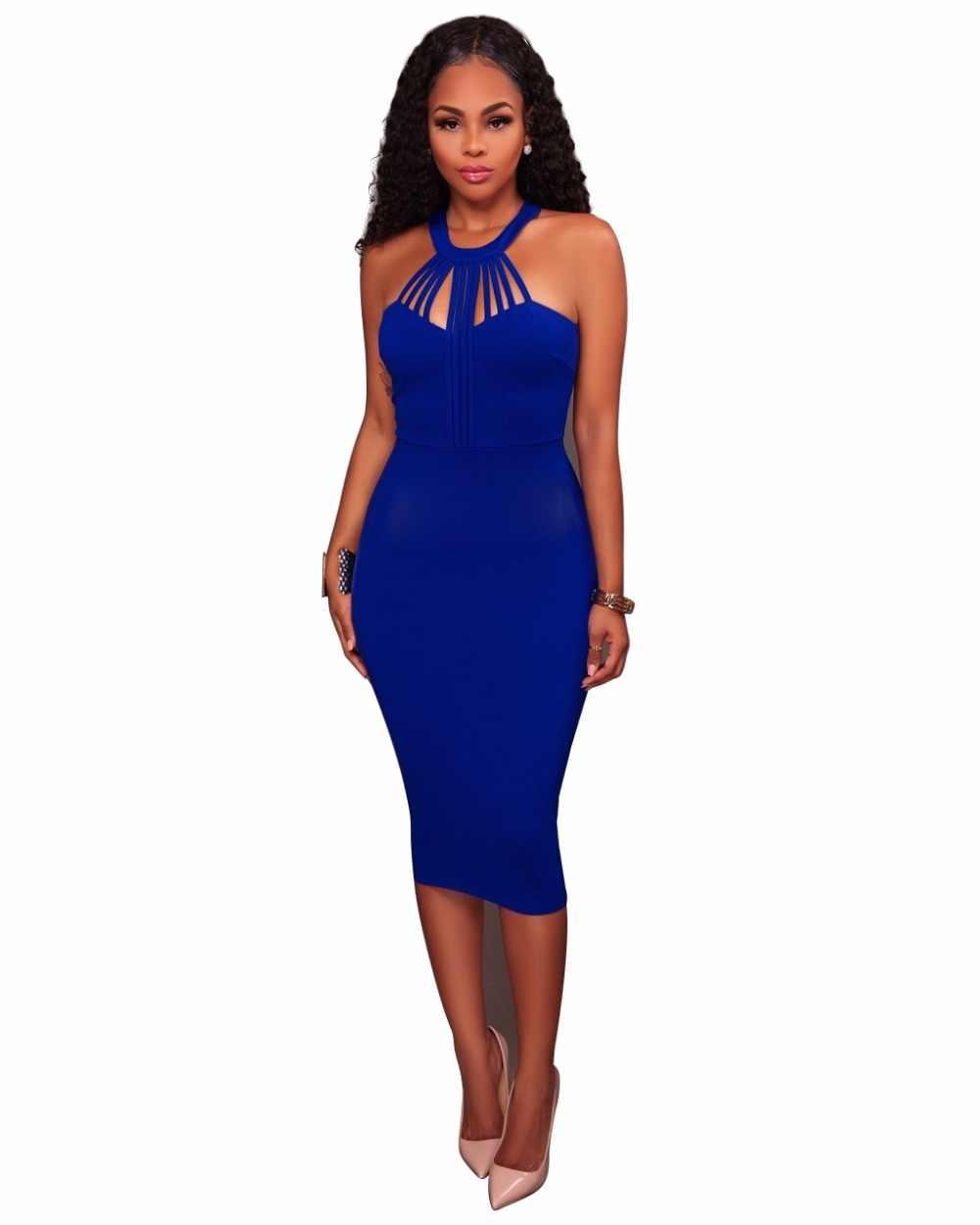 78a262739da Новинка 2017 года Сексуальное Нижнее Женское платье без рукавов Сельма  повязку Bodycon платье для Для женщин