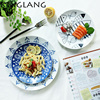 Japanese Cartoon Creative Lace Ceramic 10 Inch Main Meal Plate Of Rice And Fish Cake Plate