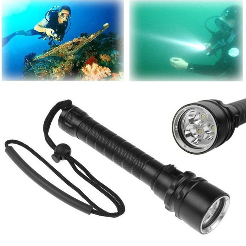 5000LM Professional Underwater Diving Flashlight Torch 3*T6 LED Torch Lantern Lighting Light Lamp For Hunting Diving professional torch