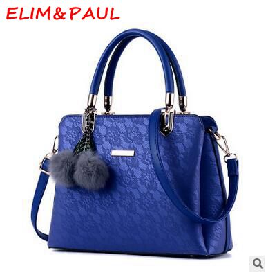 ELIM&PAUL Women's Shoulder Bags High Quality Pu Leather Shoulder Bag Female Pink Grey Red Golden Blue Black Ladies Hand bags elim
