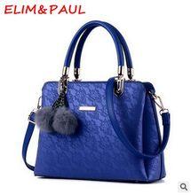 Элим и Paul Для женщин Сумки на плечо высокое качество PU кожа Сумка Женский розовый серый красный золотой синий черный женские сумки