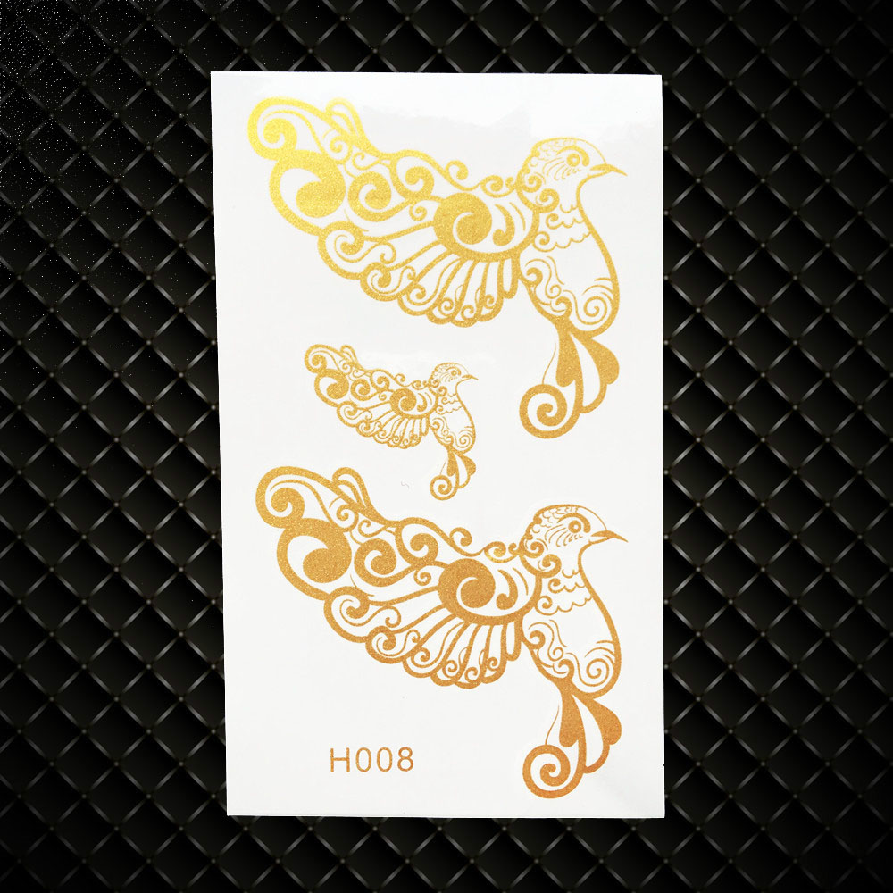 d9c82f2e1709 ᗚVuelo colibríes oro flash tatuaje mujeres Cuerpo brazo tatuaje ...