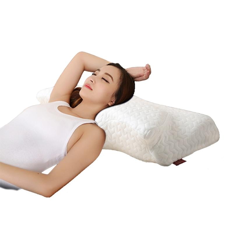 Annuona Cuscino di Gomma Piuma di Memoria Cuscino Ortopedico Per Dormire Anti-Stress Dolore Rilascio Morbido Cuscino Del Collo