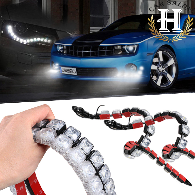 6LED-20LED  Car LED DRL 12w Fog Lights Auto Daytime Running Light Invisible Waterproof LEDs DRL High Free shipping tteoobl t 03c protective tpu waterproof bag for iphone 4 4s 5 5s green