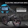 26 дюймов складной Электрический горный велосипед 48 В с переменной скоростью smart gps приложение ebike двойная батарея Встроенный литиевый аккум...