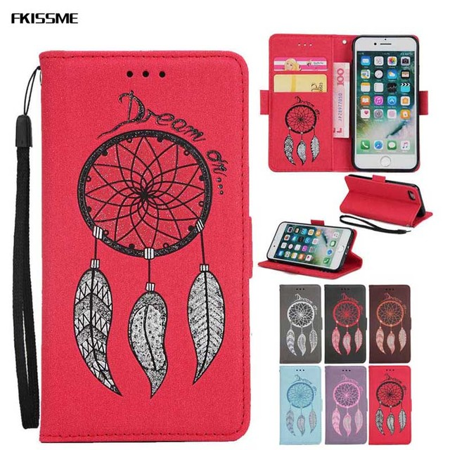 finest selection 4c942 53d78 US $4.37 10% OFF|FKISSME Luxury Glitter Dream Wallet PU Leather Case For  iPhone 6S 6 Plus Stand Flip Case for iPhone 6S TPU Silicone Back Cover-in  ...