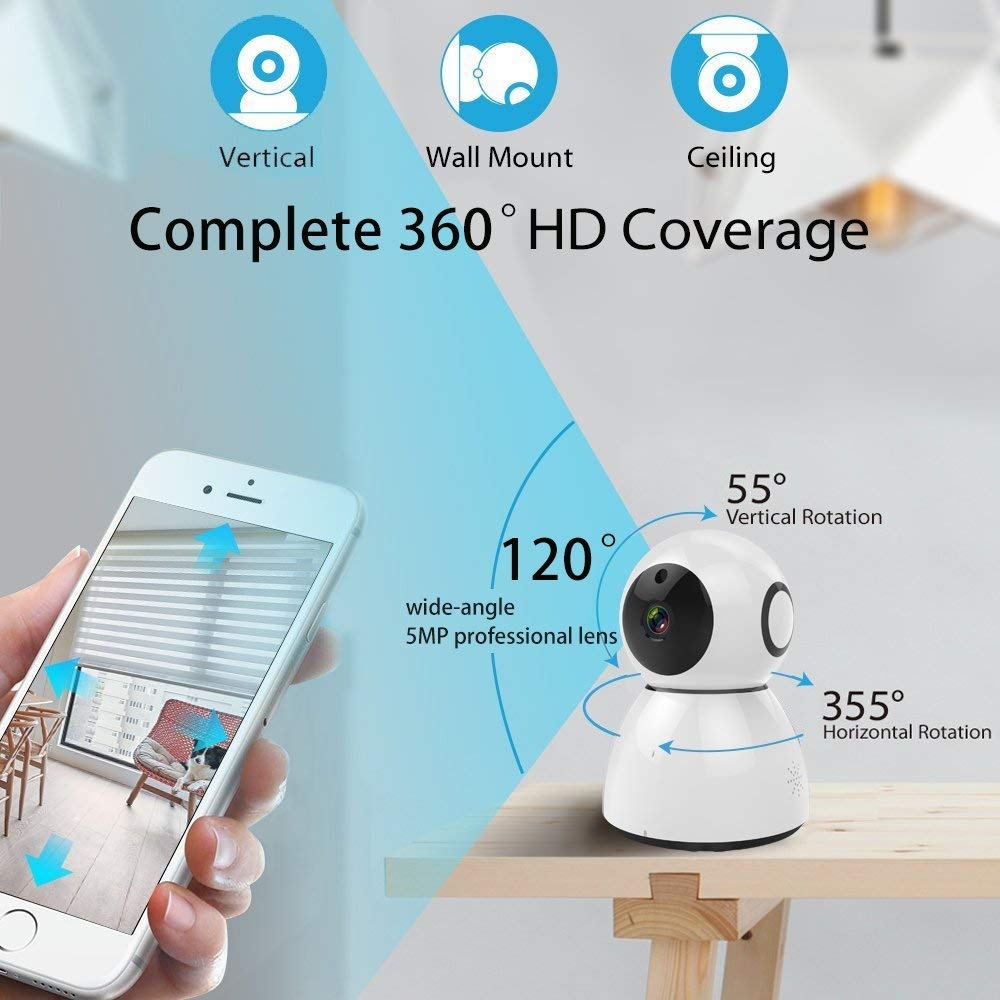 Home Camera 1080P HD Video Monitor IP Wireless Network Surveillance ...