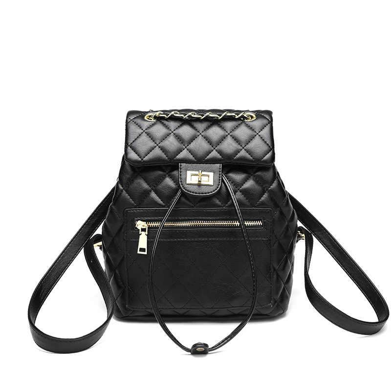 Женский кожаный черный женский рюкзак высокого качества новые кожаные рюкзаки для девочек женские школьные сумки через плечо забавная сумка Mujer