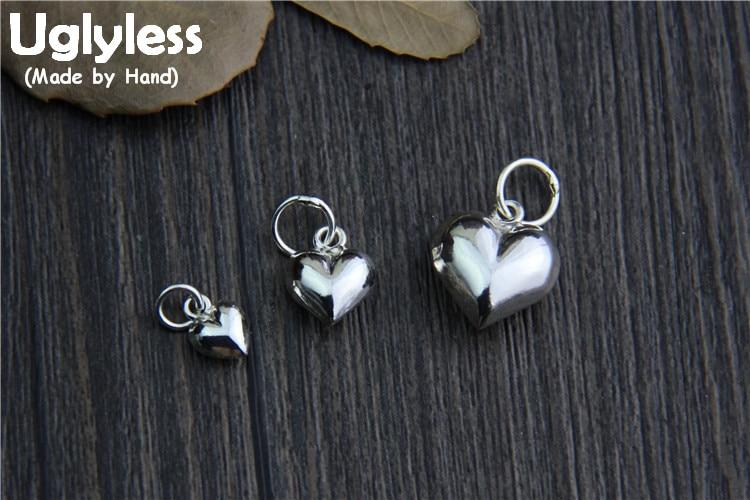 Uglyless S 925 Sterling Silber Herzen Charms Zubehör Schmuck Diy Verschiedene Größen Handmade Ergebnisse Süße Geschenk Anhänger Bijoux Schmuck & Zubehör