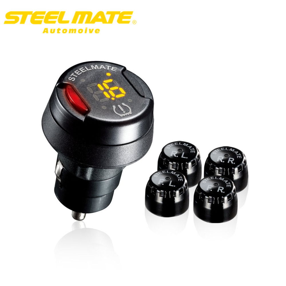 Steelmate TP-70B Tire Monitoring Pressure monitor Control System Car TPMS Alarm new Precision Intelligent steel mate tpms tp620 car tire tire pressure alarm car tire diagnostic tool support bar and psi tire pressure monitor car electronics