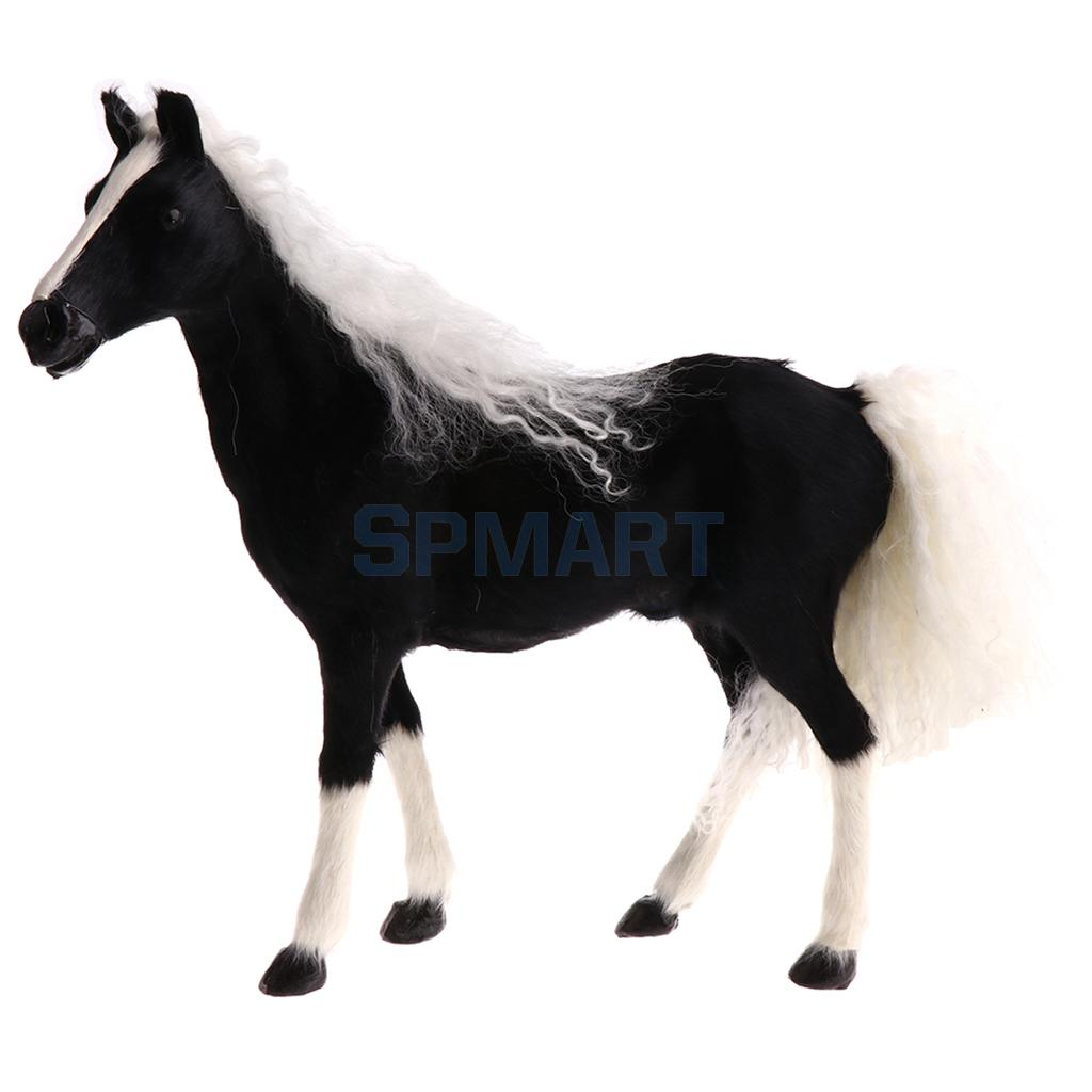 Lifelike Simulation Plush Animal Horse Animals Model Figure Toy Home Decor Gifts