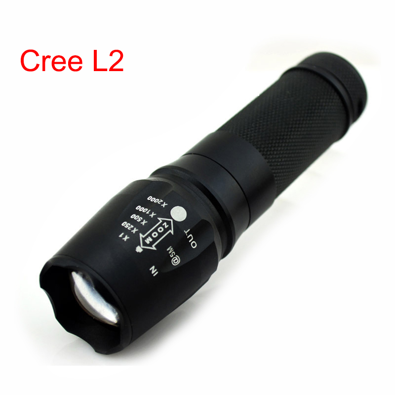 Powerful Xm-l2 Led Flashlight Torch Lampe Torche Zoomable High Bright Flash Light Lamp 18650 /aaa Battery Linternas Led Flashlights Led Lighting
