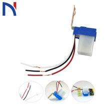 Автоматический вкл. Выкл. Фотоэлемент, переключатель уличного света, электрический переключатель постоянного тока, переменный ток, 220 В, 50-60 Гц, 10 А, фотопереключатель с фотоуправлением
