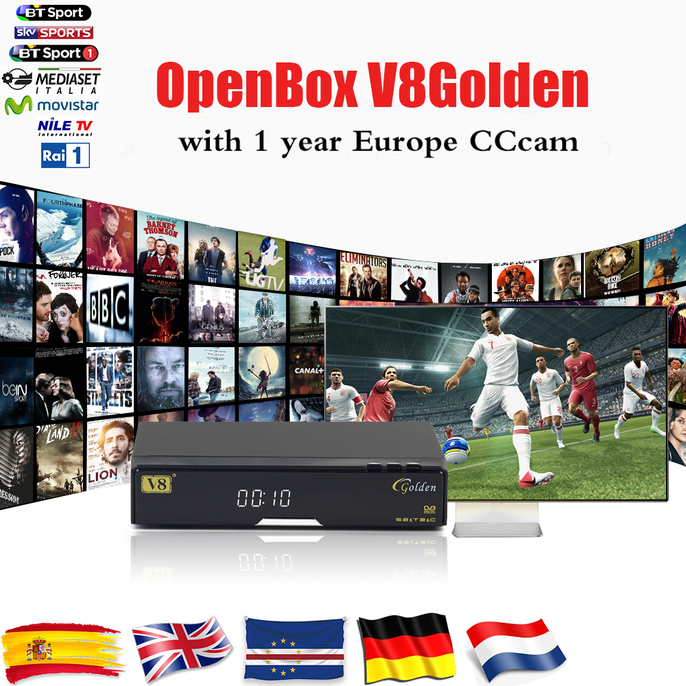 Openbox V8Golden DVB-S2/DVB-T2/Cable Satellite ComboReceiver with CCcam WetTV Youporn USB WIFI  Digital Set Top Box Freeshipping встраиваемый однокамерный холодильник liebherr ikb 3524