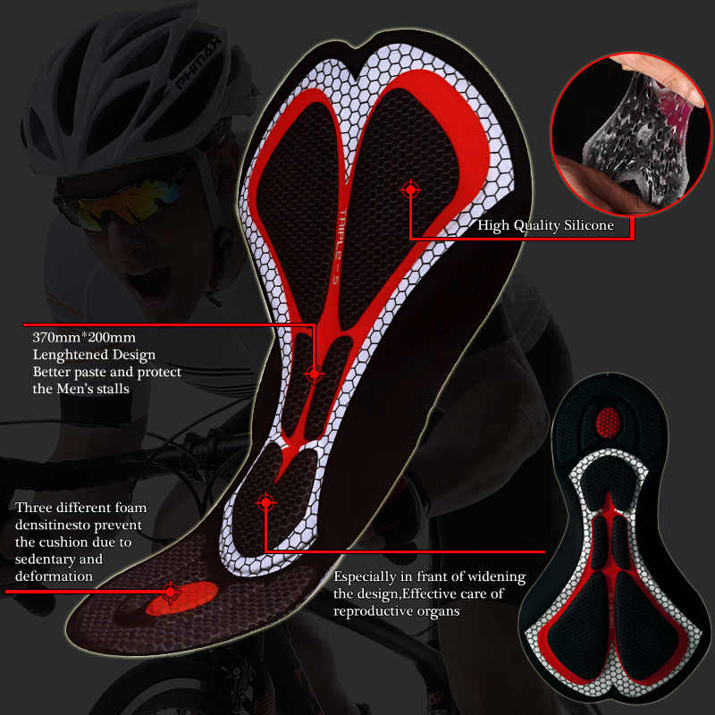 PHMAX велосипедные шорты 5 см Италия захваты на ногу Coolmax Велосипедные Шорты противоударные шорты для велосипедистов MTB горный велосипед Колготки