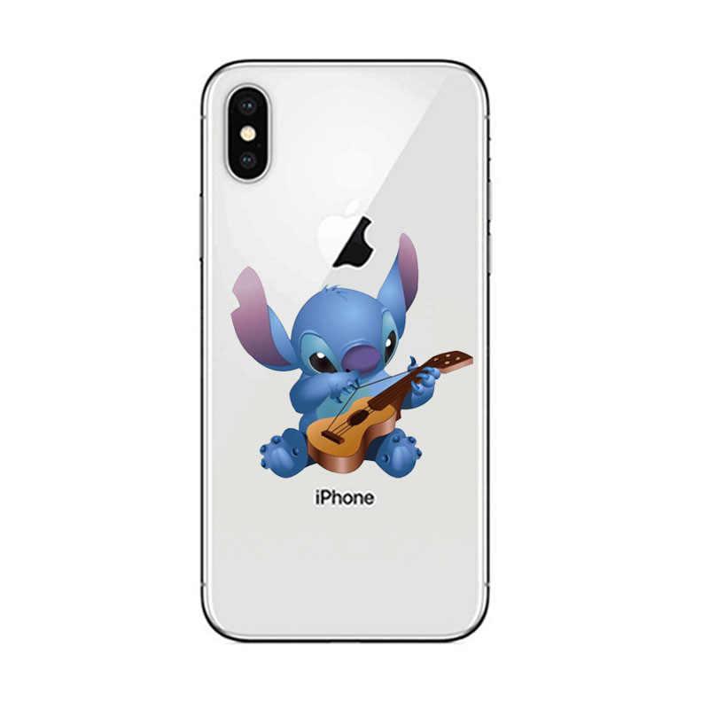 Caixa do telefone Tampa Bonito Dos Desenhos Animados Lilo Ponto macio TPU Silicone Para apple iPhone 5 6S SE 6 5S 7 8 Plus X XR XS MAX moda caso shell