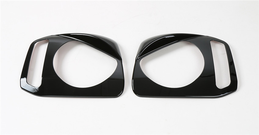 1Pair Auto Car Front Head Light Lamp Protective Cover Frame Trim For Jimny 2007 2015 Car Styling Exterior Accessories Chromium Styling     - title=