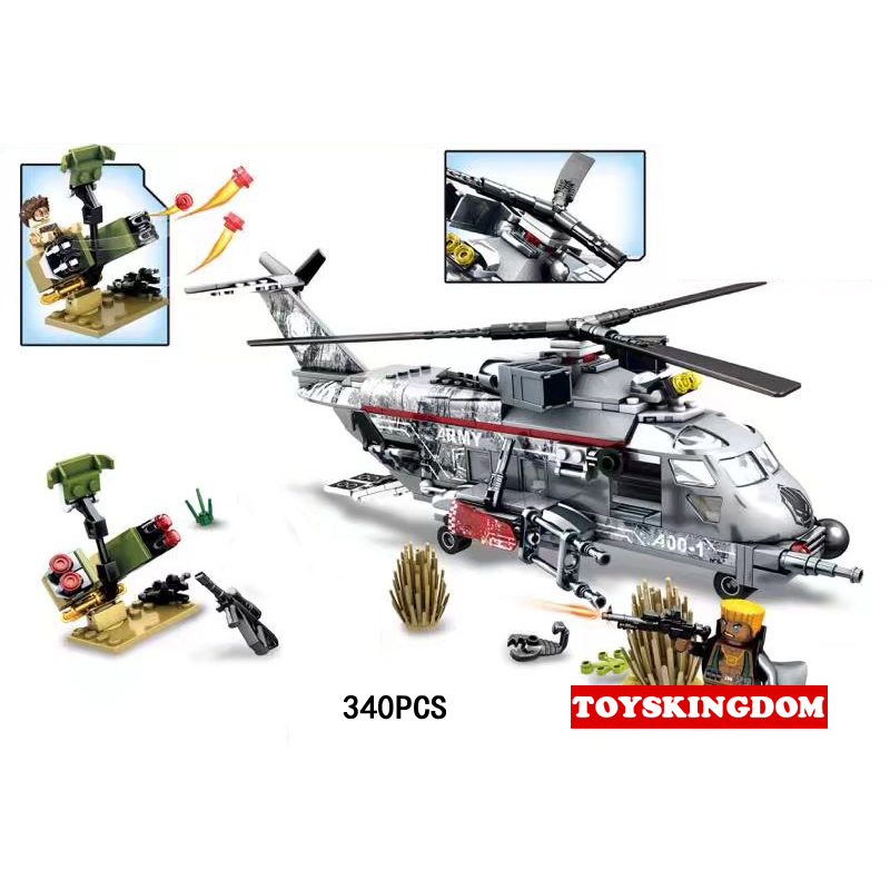 Hot Modern military Red Devils Fatal assault building block army figures helicopter Howitzer bricks toys for boys gifts 8 in 1 military ship building blocks toys for boys