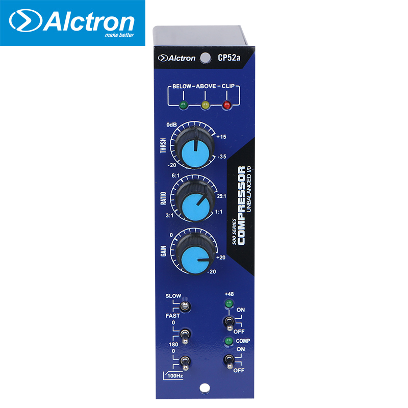 Alctron 500 Series Compressor/Limiter with Compression Modes and Comprehensive Metering used in recording and stage performance