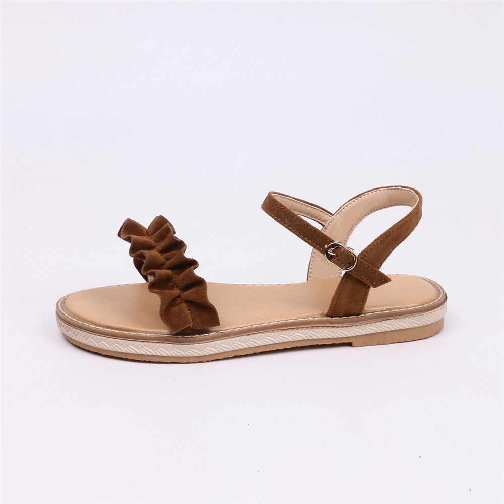 MORAZORA 2020 new style women sandals top quality  summer shoes sweet bohemia simple buckle big size 34-43 fashion flat shoes